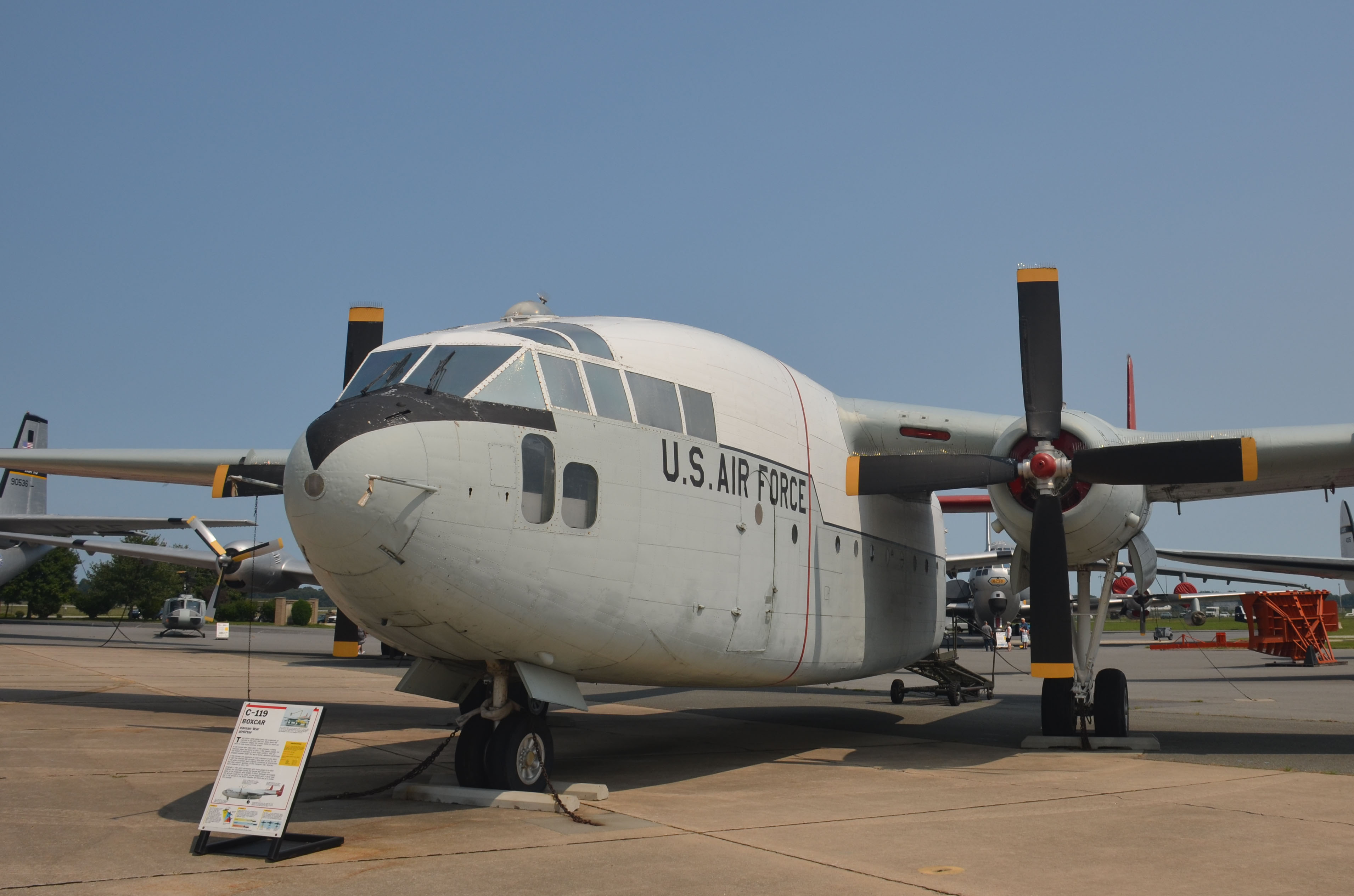 119G Flying Boxcar - Air Mobility Command Museum