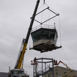 AMC Museum Control Tower Exhibit - DAFB Tower Cab Being Installed