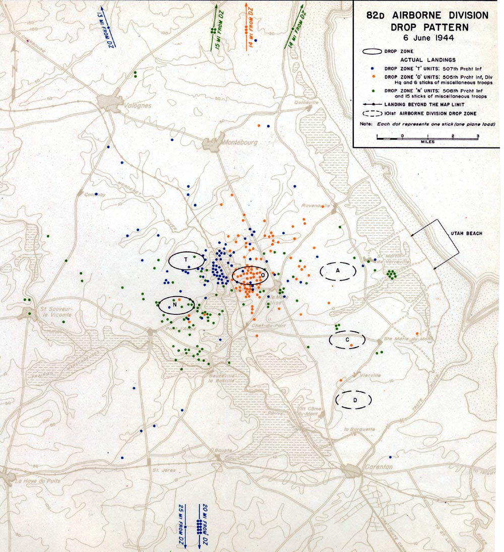 82nd Airborne Division Drop Pattern Map