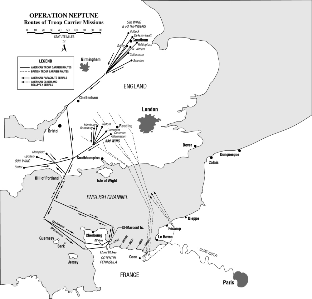Operation Neptune Troop Carrier Routes