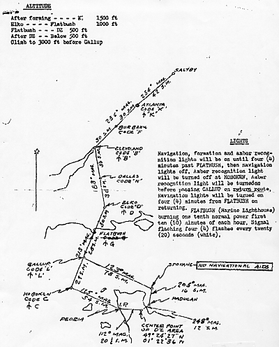 D-Day Drop Instructions Given to Flight Crews at Saltby England