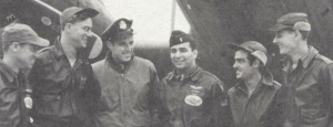 On D-Day, Blake Craig and Bob Freeman (left) were the crew for Lts. vanReken and Cohen (center).On D+2,Charles Schloser and Raymond Layfield were the crew for the same pilots.