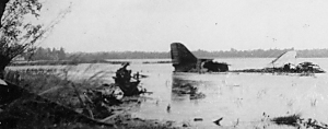 Downed C-47 in the Merderet or the Douve. Photo: Neal Beaver