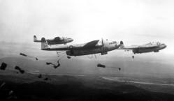 C-119 Paratroop Drop - Korean War
