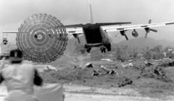 C-130 Hercules Executing LAPES Drop - Vietnam War