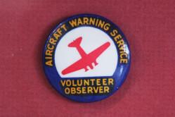 Aircraft Warning Service Volunteer Observer Pin