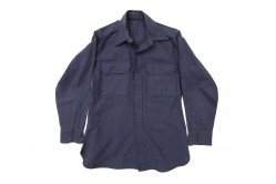 Dark Blue Long Sleeve Service Shirt