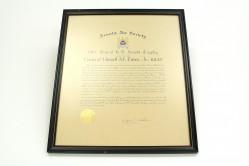 General H.H. Arnold Award Certificate