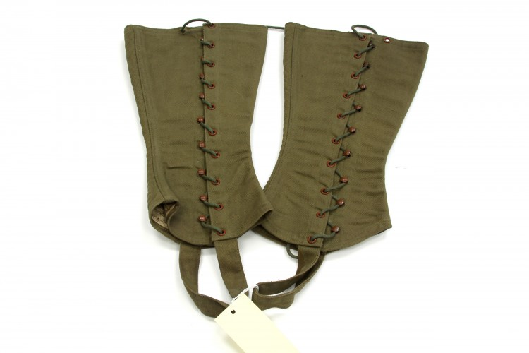 Olive Drab Canvas Leggings