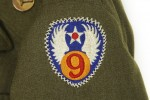 Olive Drab Enlisted Ike Jacket - Detail - 9th Air Force Patch