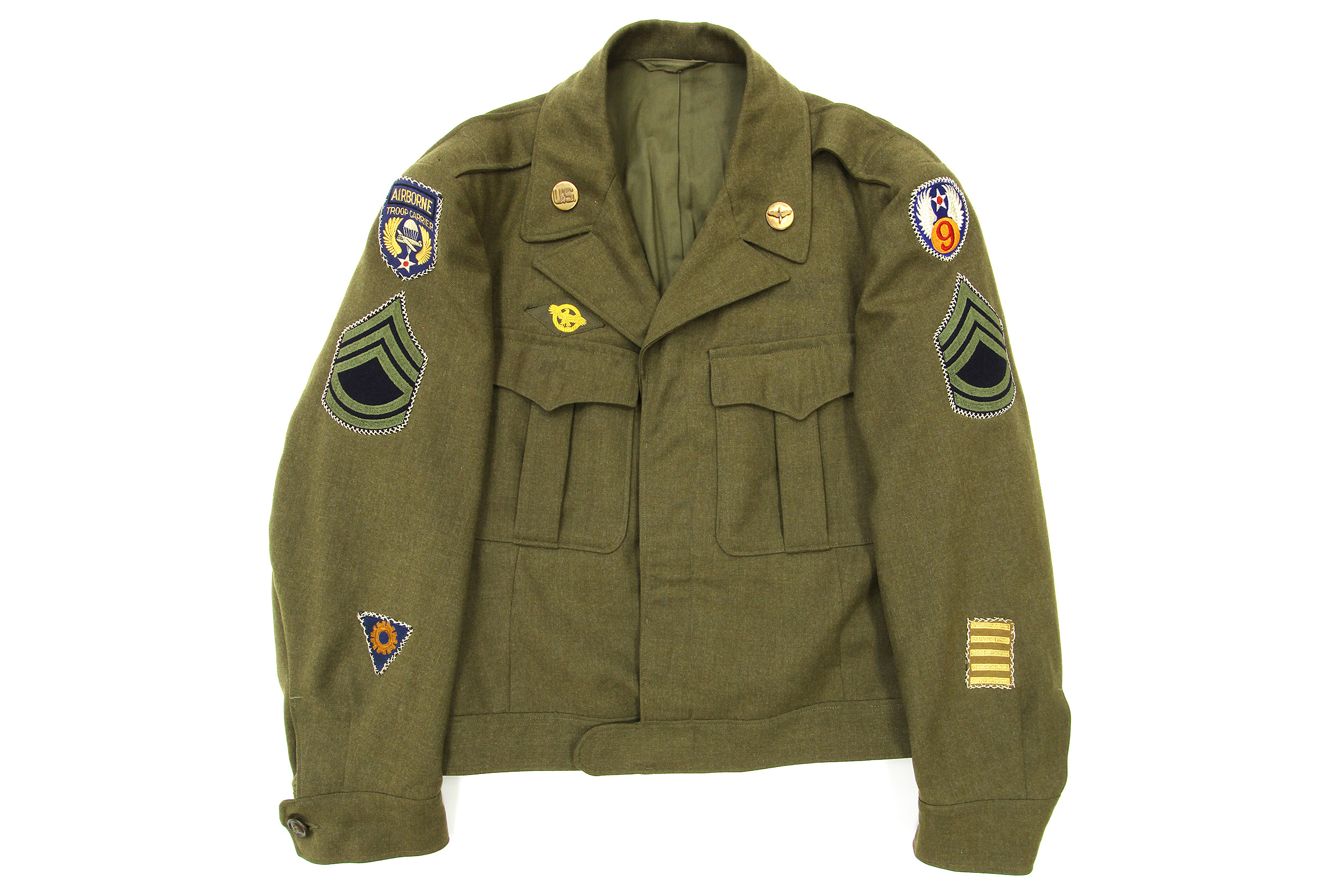 Olive Drab Enlisted Ike Jacket - Air Mobility Command Museum