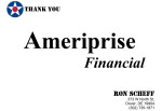 Golf Tournament - Ameriprise Financial - Sponsor