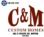 Golf Tournament - C&M Custom Homes - Sponsor