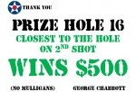 Golf Tournament - Prize Hole 16