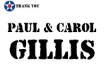 Golf Tournament - Paul and Carol Gillis - Sponsor