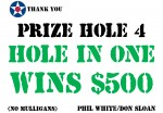 Golf Tournament - Hole In One