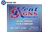 Golf Tournament - Kent Signs - Sponsor