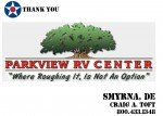 Golf Tournament - Parkview RV Center - Sponsor