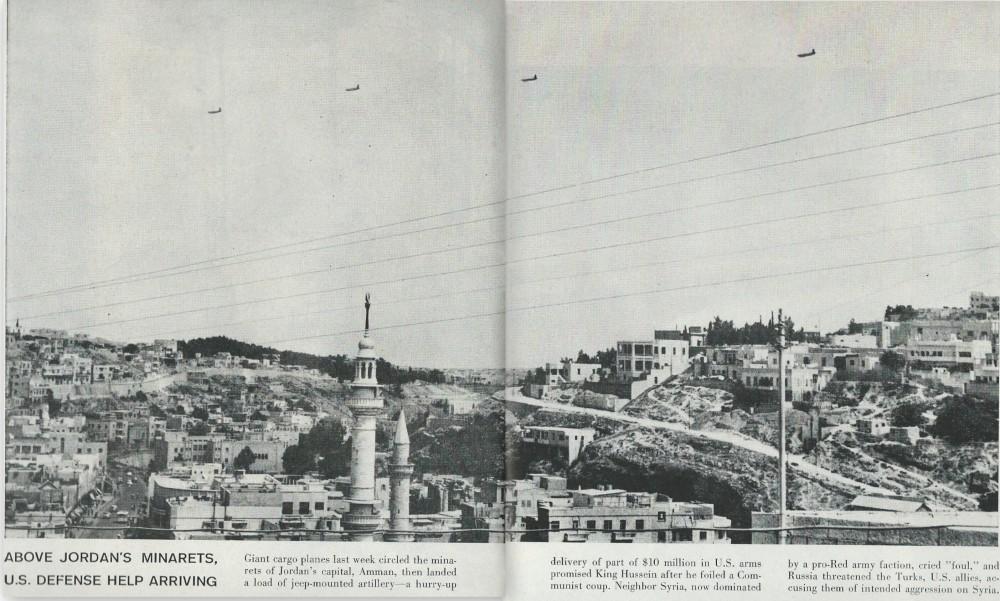 C-124s over Amman, Jordan
