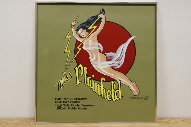 "4th Fighter Group ""Miss Plainfield"" Nose Art"
