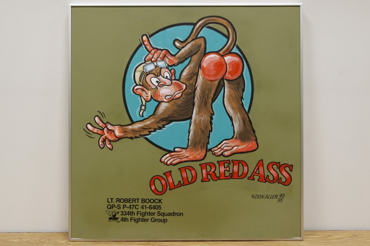 "4th Fighter Group ""Old Red Ass"" Nose Art"