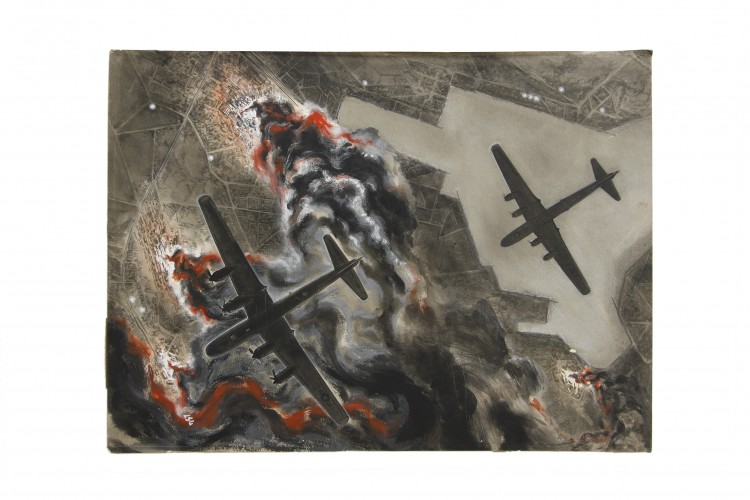 B-29 Aircraft Magazine Illustration Artwork