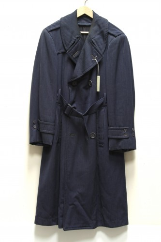 Blue Overcoat with Belt