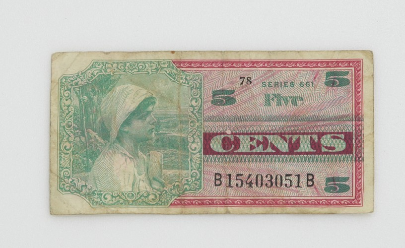 Five-cents Military Payment Certificate