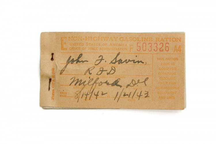 Gas Ration Coupon Book