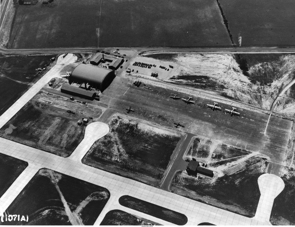 Dover Army Airfield - World War II - Hangar 1301 - Aerial Photo