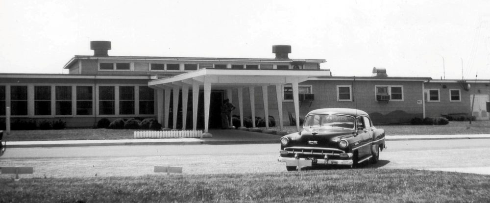 Officers' Club with new marquee, 1958